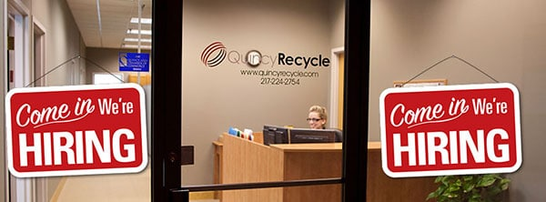 Quincy Recycle is hiring