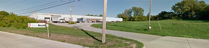 Exterior street view of a Quincy Recycle facility.
