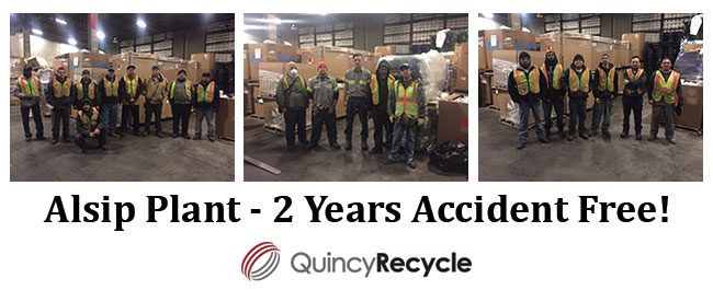 Alsip Recycling Plant 2 Years Accident Free