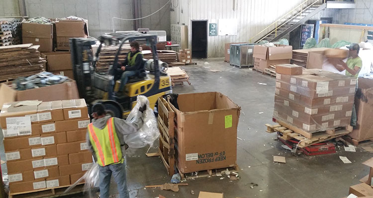 Deboxing books to be securely recycled