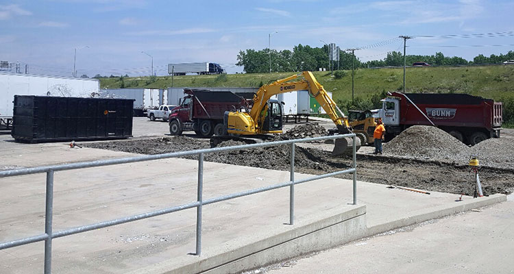 Dock improvements at New Haven, IN recycling plant