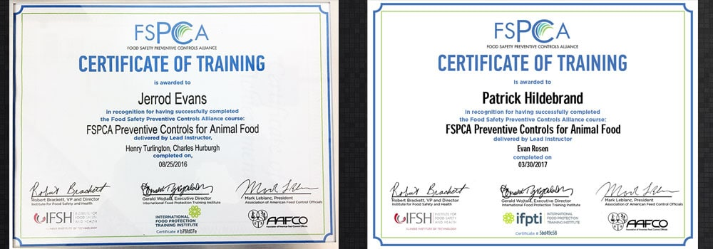 FSPCA Certifications