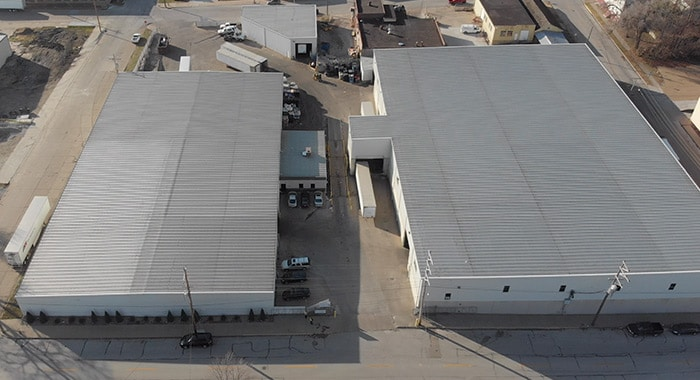 Overhead view of Quincy Recycle location in Quincy, IL