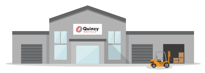 Graphic visualization of a Quincy Recycling plant.